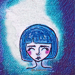 art blue character