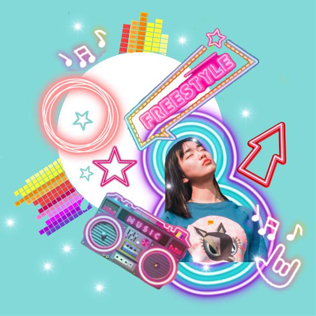 #freetoedit #neon #kpop #girl #lights #brush #music #fun