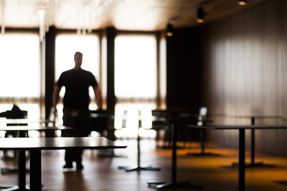 #workingman #chairs #tables #blur #sunlighteffect #light #strangemoments