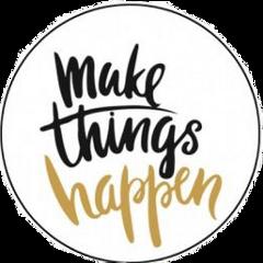 makethingshappen text word golden black freetoedit