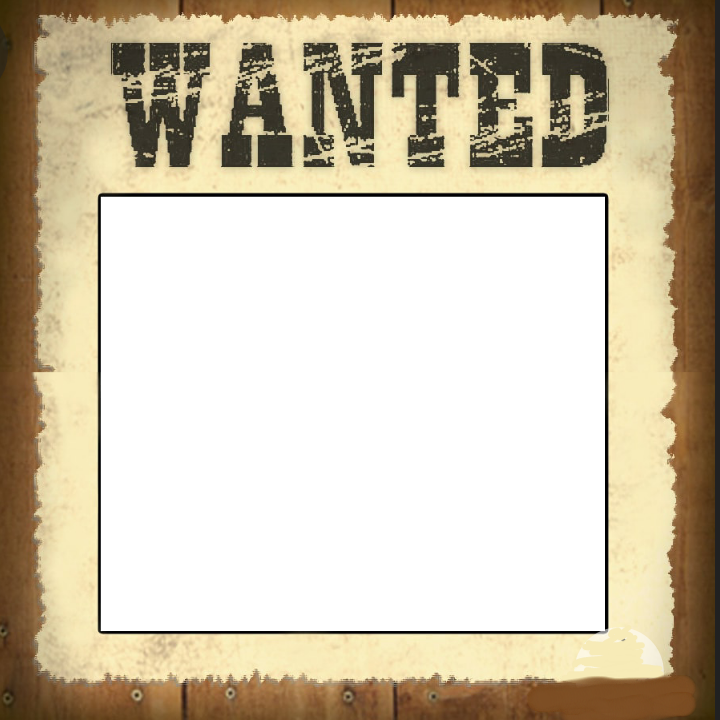 Wanted Frame Sticker By Brandy Birdsong
