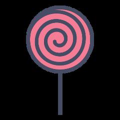 lollipop paleta swirl pink freetoedit