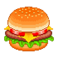burguer pixel food cute tumblr