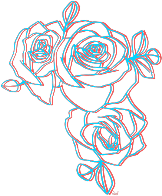 roses png red blue 3d best artistic...