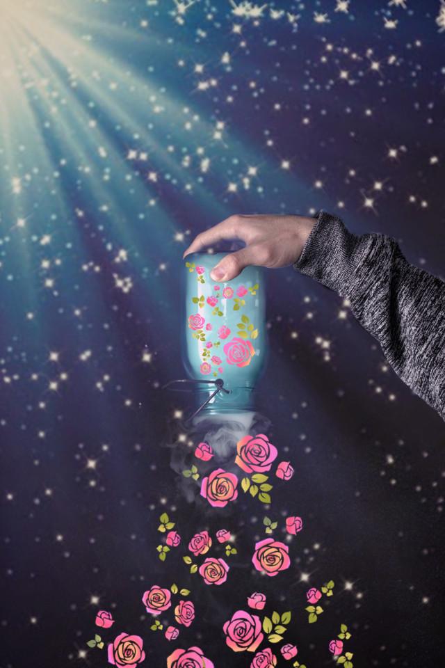 #freetoedit #remixed #flowers #jar #remixit #remix #fun #bright #nature