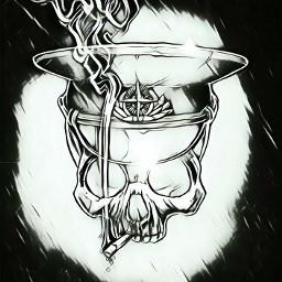 skull skullhead dark