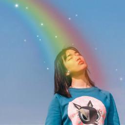 freetoedit dailyremix dailyinspiration rainbow colorful
