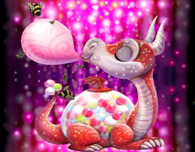 #freetoedit  #mirroreffect #dragon #bubblegum #bees #newbrushrainboweffect #myedit