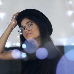 glasses hipster lights light hat freetoedit