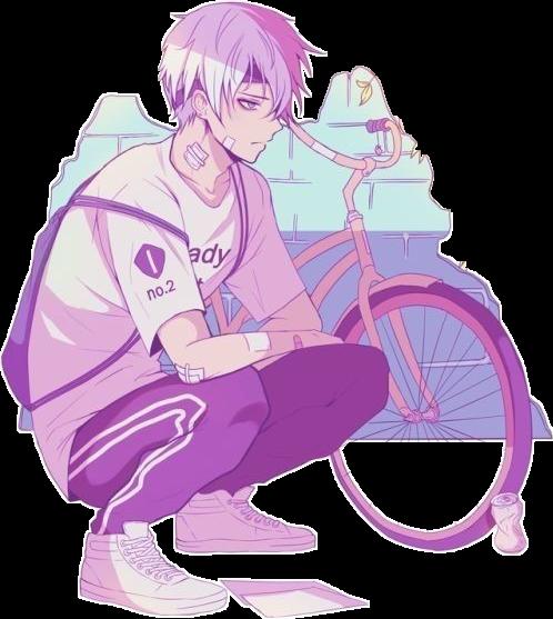 Aesthetic Boy Street Anime Bike Squat Localcupcakeaesth