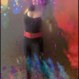 holi freetoedit myedit colorful selfie