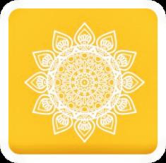 #ftestickers #yellow #square #mandala #sun