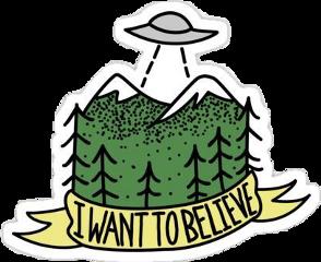 beleive space spaceship mountain trees freetoedit