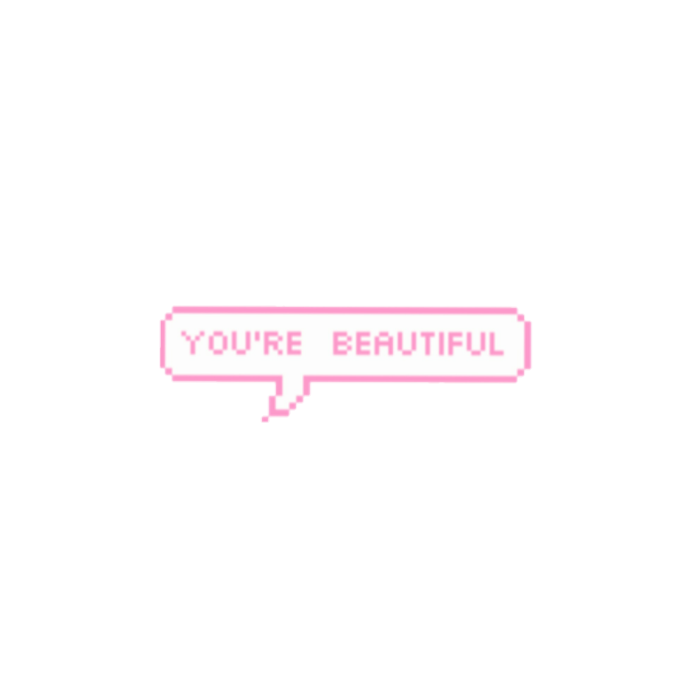 overlay text kawaii pink cute sticker by