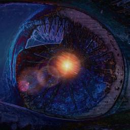 freetoedit eye remix galaxy picsart
