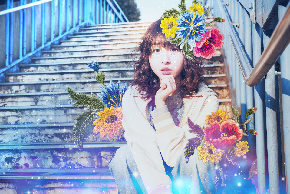 #freetoedit #stardust #asiangirl #flowers #galaxy #stairs