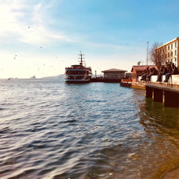 freetoedit sea waterfront goldenhour urban