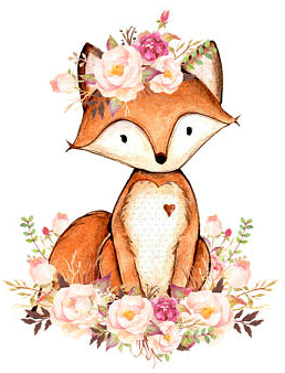 Fox Floral Flowercrown Woodlandcreatures