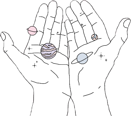 🌹the universe is in your hands 🌹 stickers aesthetic
