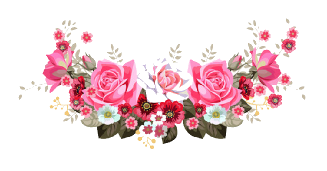 floral header border - Sticker by Jessica Knable