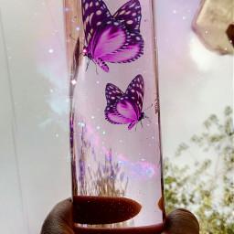 magic butterflies bottle water emotions freetoedit