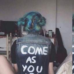 freetoedit comeasyouare bluehair nirvana