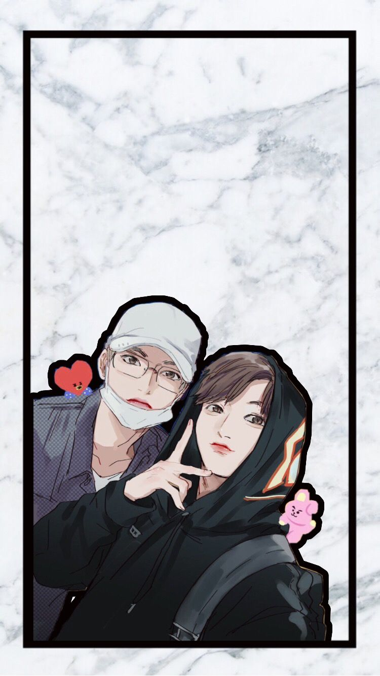 Picsart Bts Jungkook Taehyung Taekook Wallpaper Wallpa