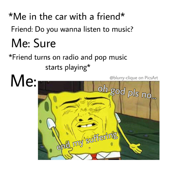 """I barely listen to the radio anymore. I'm too far into the """"dark side"""" involving punk, alternative, and metal/metalcore. 😂 I couldn't be happier about the music I listen to currently.   #memes #metalmemes #metalhead"""