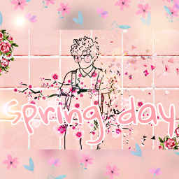 spring flower pinkyboy freetoedit