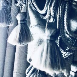 curtains tassles thread lightblue silver freetoedit