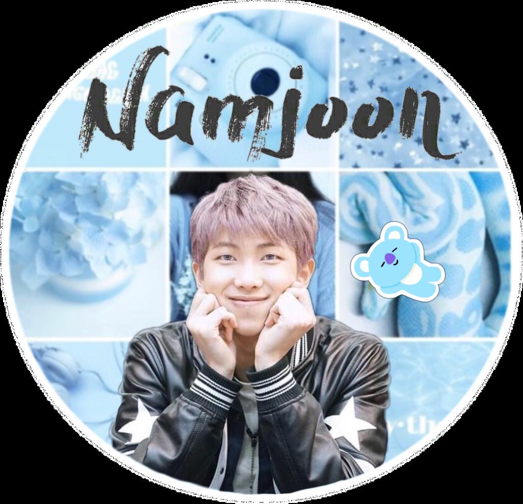 rm namjoon bts blue collage tumblr edit