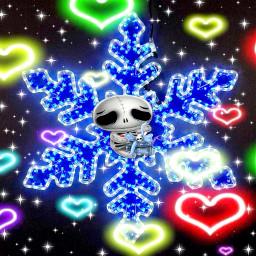 freetoedit neonlights hearts newbrushtools skeleton