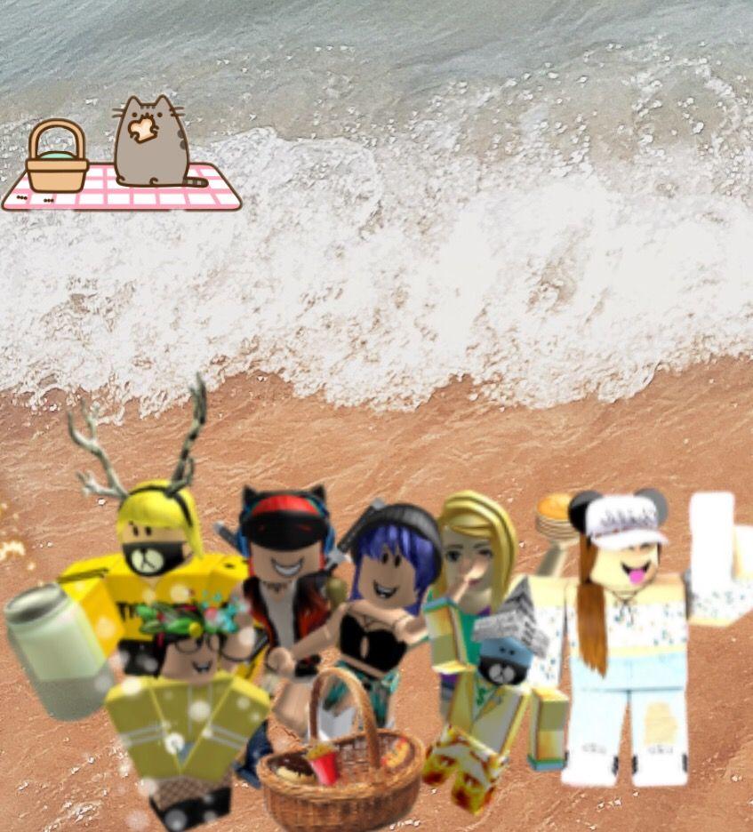 Freetoedit Selfie Roblox Beach Sea Water Wave
