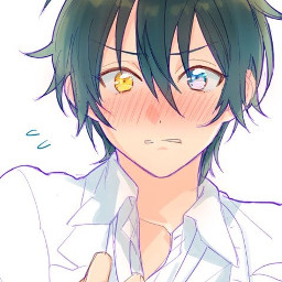 cute anime cuteanimeboy differentcolouredeyes freetoedit