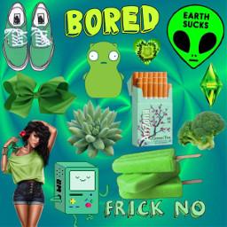freetoedit green bmo alien cute