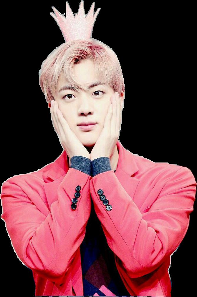 kimseokjin jin pink rosa bts sticker bangtanboys bangta