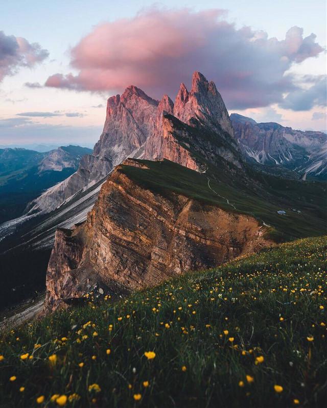 #freetoedit #remix #remixit #landscape #flowers #nature #mountains #clouds #photo #atmosphere
