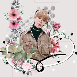 freetoedit bts btsjimin jimin flower stpatricksday clover flowers nature music kpop koreanpop picsart