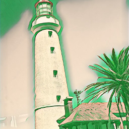 freetoedit greenmagiceffect lighthouse picsart