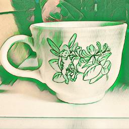 greeneffect cup fairy freetoedit greenmagiceffect