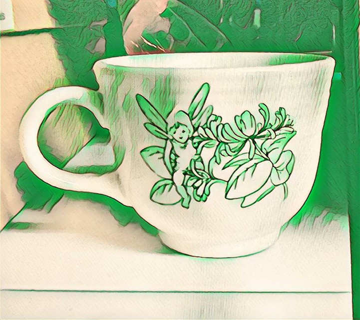 #greeneffect#cup#fairy #freetoedit