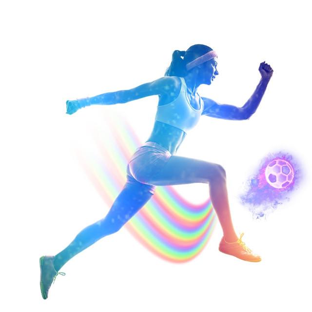#freetoedit #player #football #kick #fireball #ball #run #girl #women #exercise #gradient #jump #warmup #picsartedit #Picsartremix #picsarteffects @picsart