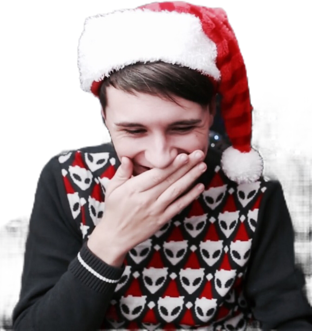 Dan And Phil Christmas Sweater.Dan Danielhowell Howell Youtube Youtuber Danisnotonfire