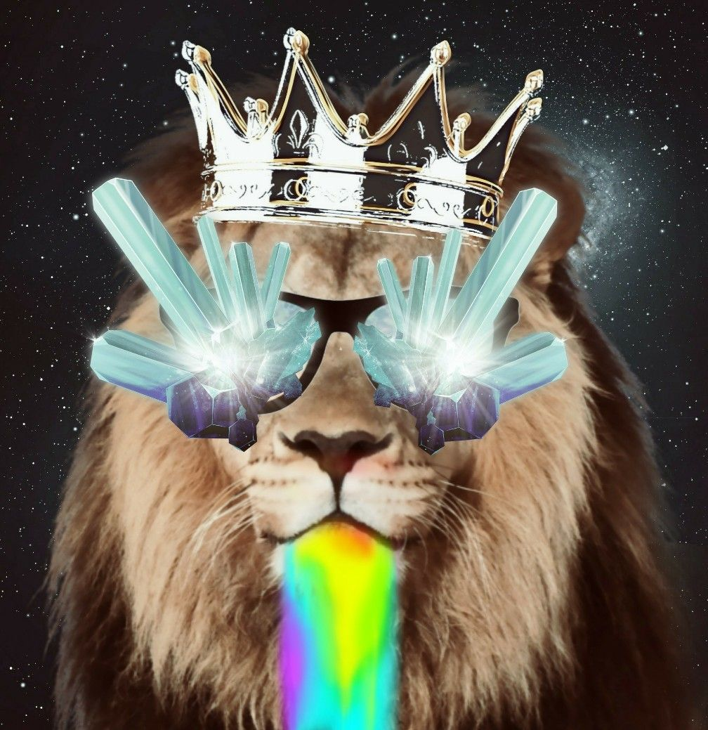#freetoedit love doing these edits. #trippy #lion #king #rainbow #glasses #chill #hippie #picsart