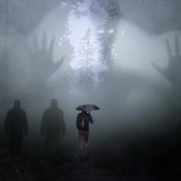ircmysticallymisty mysticallymisty freetoedit spooky fog scared
