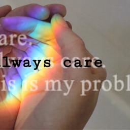 rainbow hand care problem freetoedit