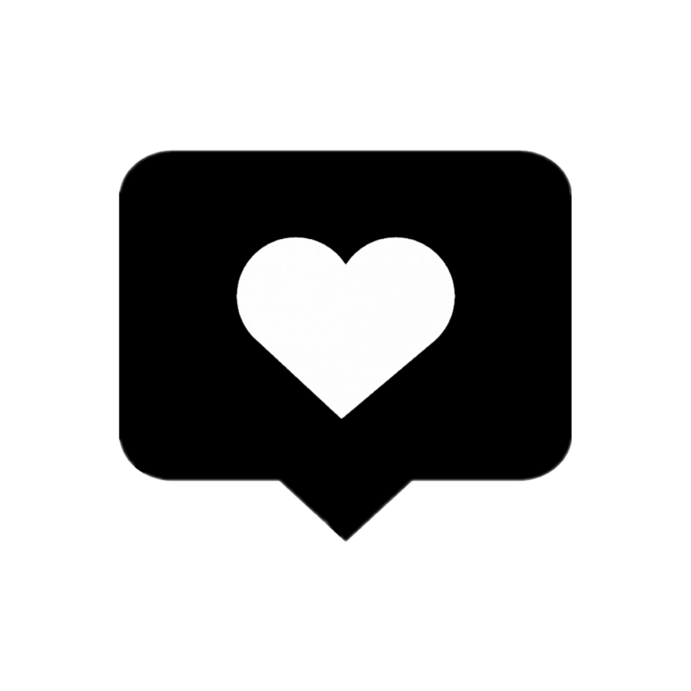 Instagram Love Heart Like Black Png Box Remix