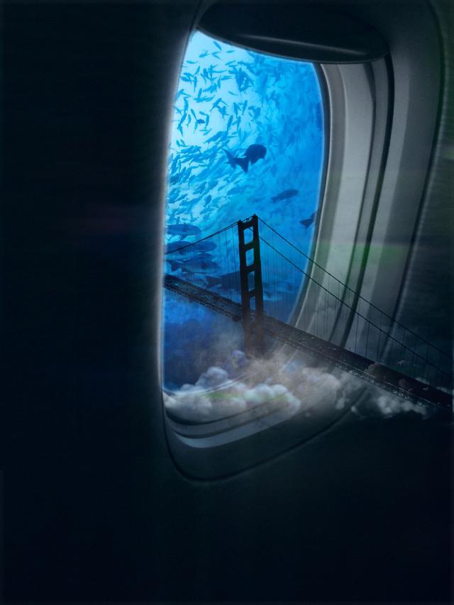 #freetoedit #imagination #travel #sanfrancisco #underwater #clouds #bridge #picsart @picsart @freetoedit