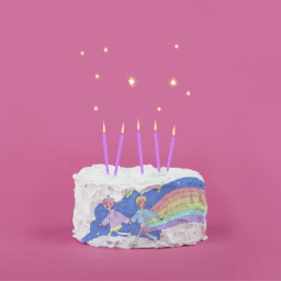 cake rainbow remix freetoedit