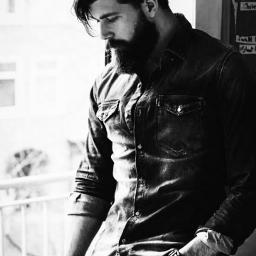 man beard blackandwhite sad alone pcbeardsandmoustaches freetoedit